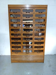 Antique oak haberdashery shop drawers - eyespy