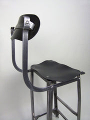 Vintage industrial factory machinist's chair by Tan Sad - eyespy