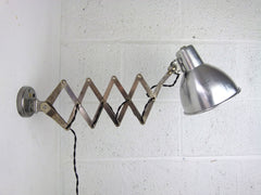 Vintage French scissor arm extendable wall lamp - eyespy