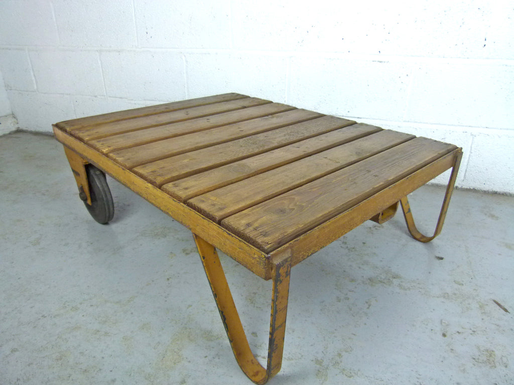 Vintage industrial factory trolley cart table eyespy vintage industrial factory trolley cart from eyespy online vintage furniture store geotapseo Choice Image
