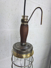 Vintage ship's engine room inspection lamp - eyespy