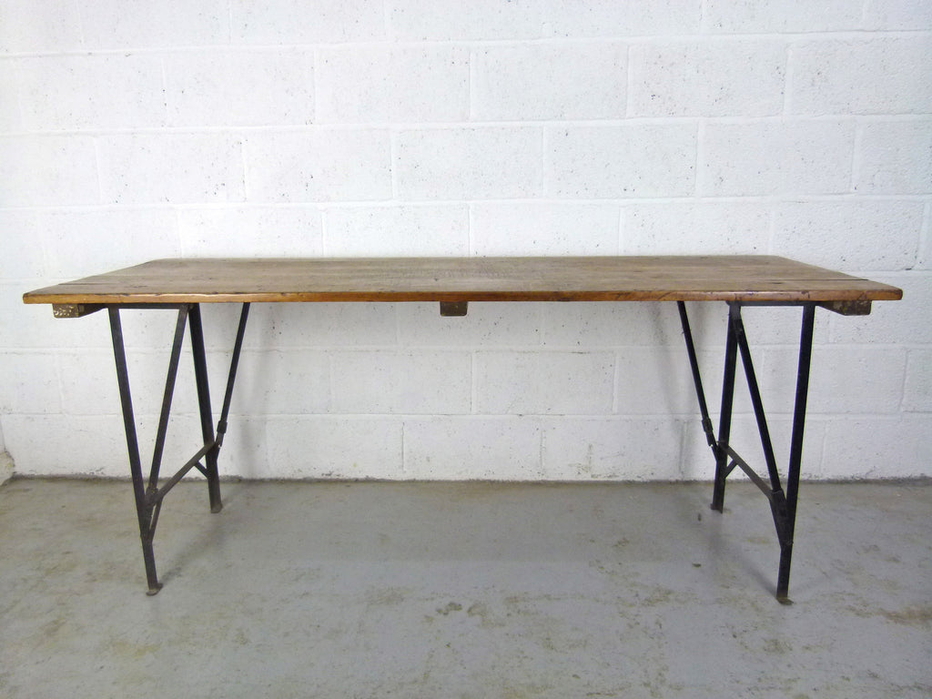 1940s pine and metal table - eyespy