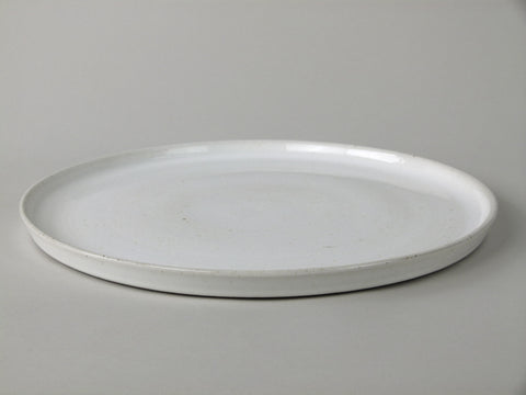 French Stoneware Basic serving plate round - Ivory