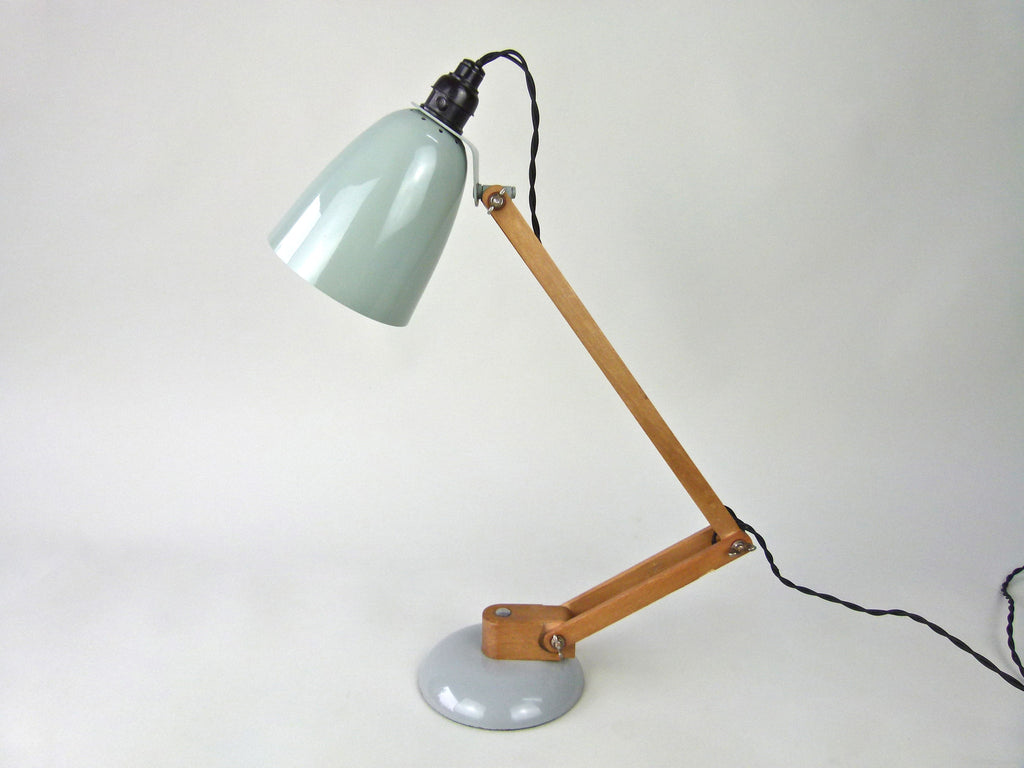 Habitat Conran Maclamp. Grey, wooden arm - eyespy