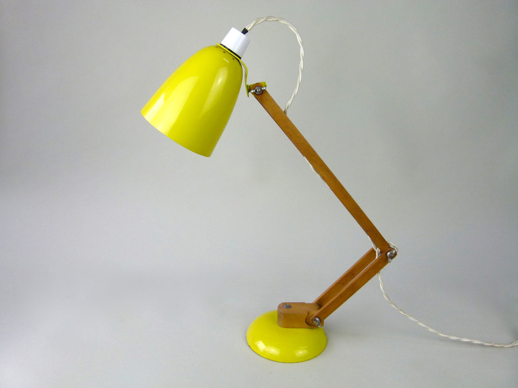 Habitat Conran Maclamp. Yellow, wooden arm - eyespy