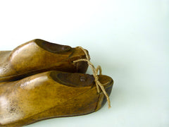 Vintage wooden shoe lasts - eyespy