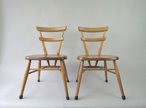 2 x Ercol school chairs