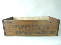 Antique Gaymers Cyder wooden crate storage box - eyespy