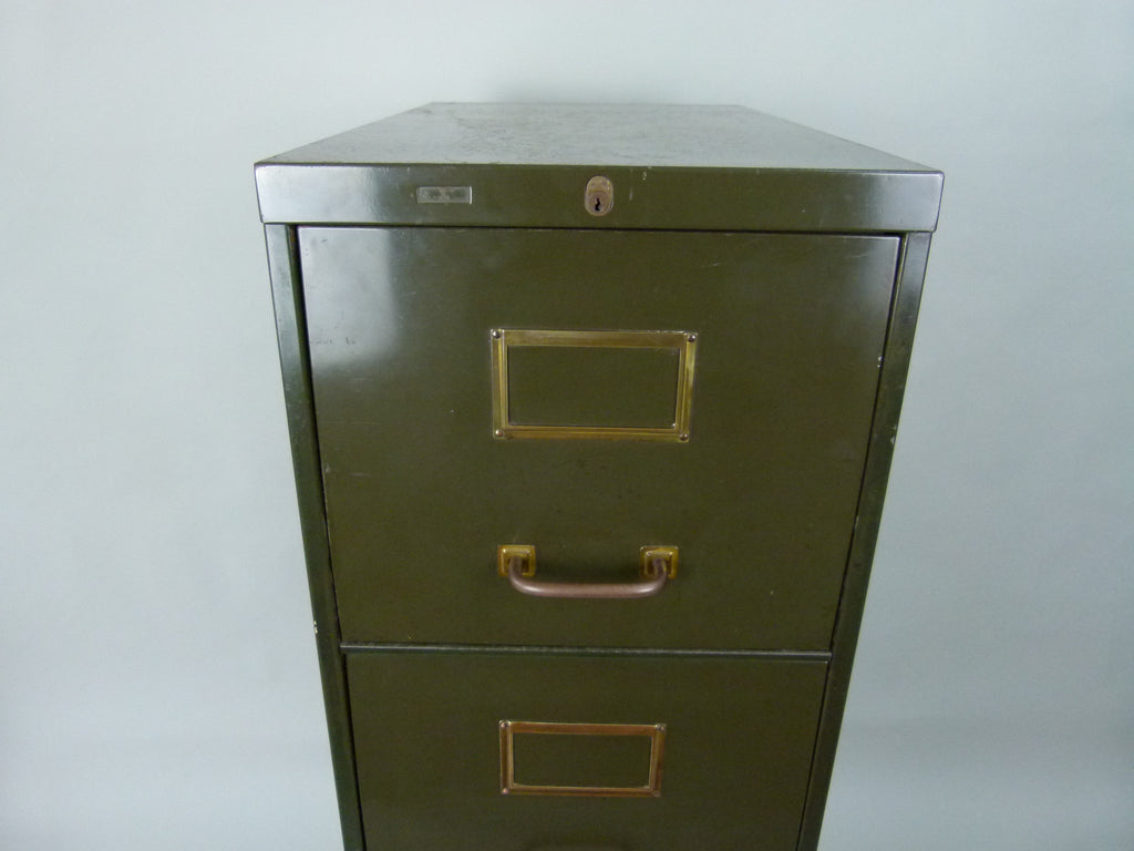 Vintage industrial Roneo steel filing cabinet