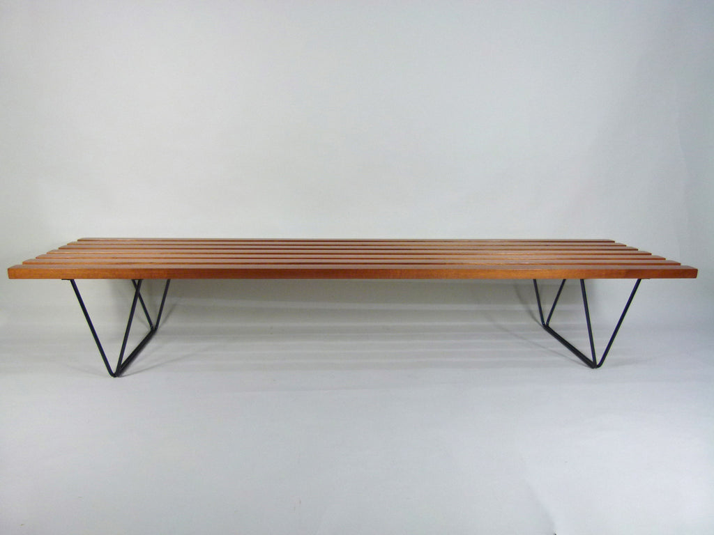 1950s modernist Hille Interplan bench designed by Robin Day