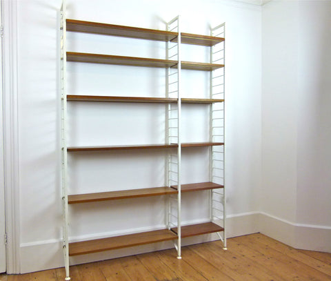 Ladderax shelving system. Double bay