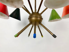 1950s Italian Atomic 7 light chandelier - eyespy