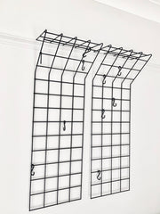 Mid century geometric wire grid coat racks by Karl Fitchel - eyespy