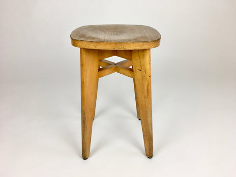 Mid century stool from France. Perriand, Prouvé, Le Corbusier era
