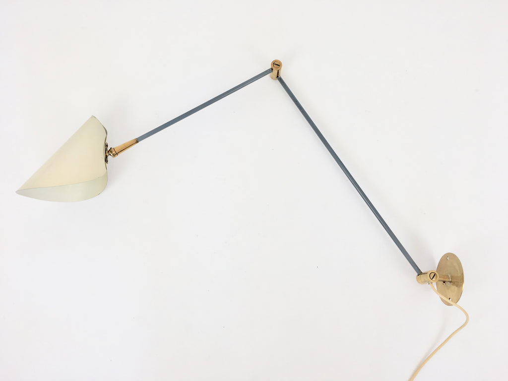 Mid century 2 arm wall lamp - eyespy