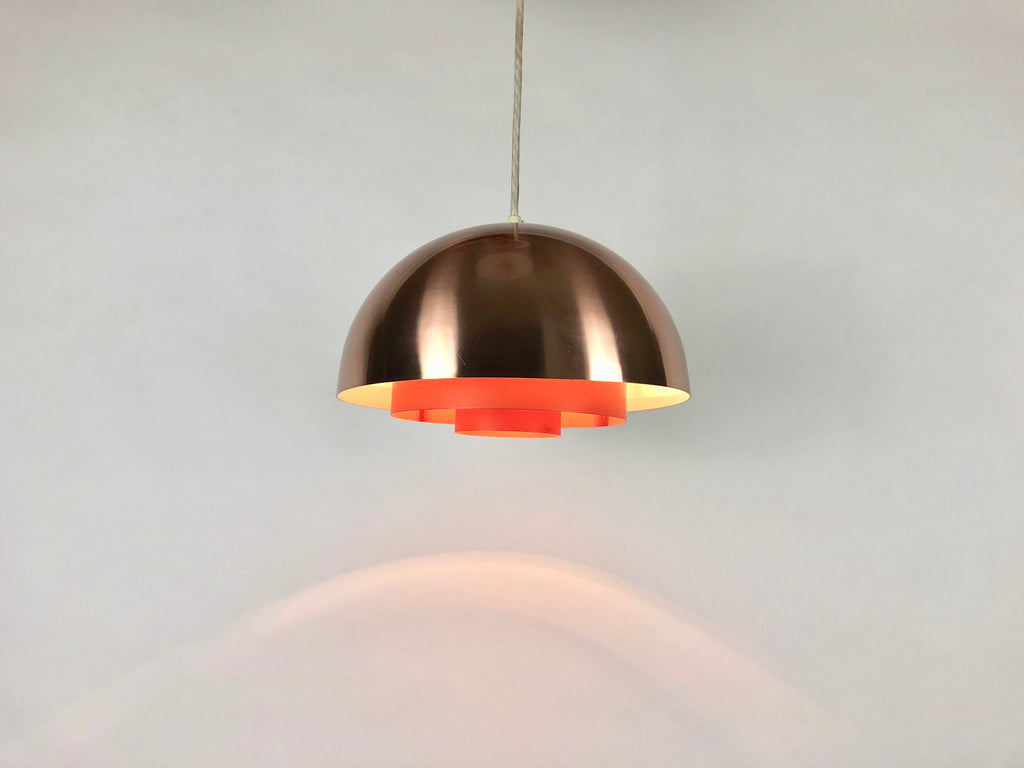 1960s Danish Copper Milieu Lamp by Jo Hammerborg for Fog & Mørup - eyespy