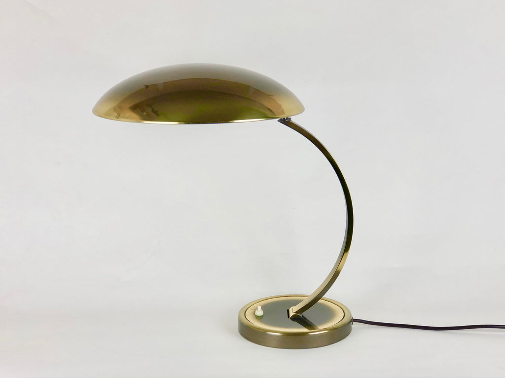 Bauhaus brass desk lamp, model 6751 by Christian Dell for Kaiser Leuchten - eyespy