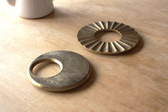 Brass trivet by Oji Masanori - Moon - eyespy
