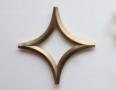 Brass trivet by Oji Masanori - Star