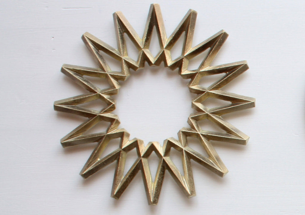 Brass trivet by Oji Masanori for Futagami - Galaxy - eyespy