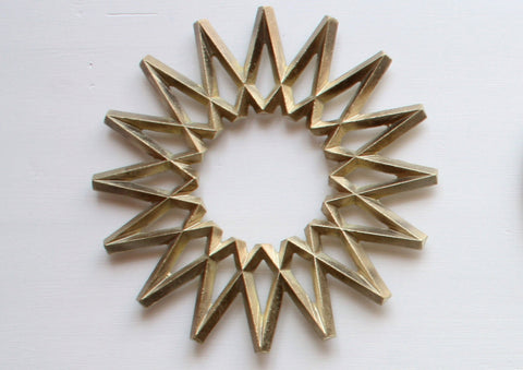 Brass trivet by Oji Masanori for Futagami - Galaxy