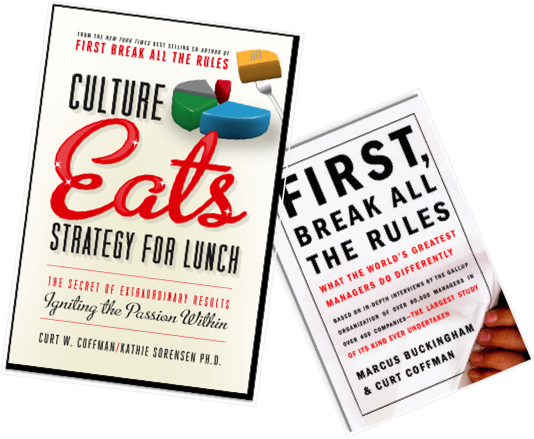 Two Book Set - Culture Eats Strategy for Lunch & First Break all the Rules