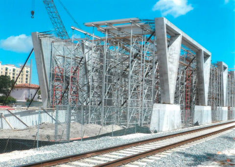 Aluminum Frame Shoring - West Palm Train Station