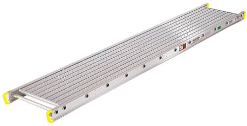 Werner 2412 500-Pound Duty Rating Two-Person Aluminum Scaffold Plank, 14-Inch Wide by 12-Feet Long
