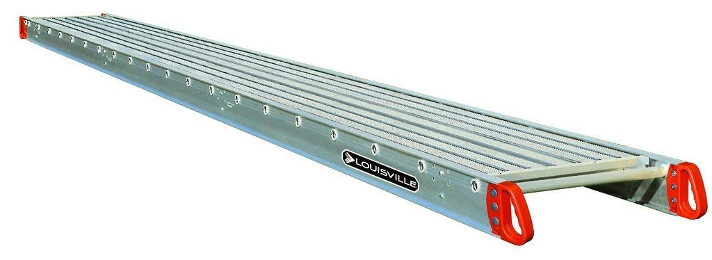 Louisville Ladder 24-Foot Aluminum Scaffold Plank, 250-Pound Capacity