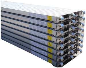 "CBM Scaffold All Aluminum 75-Lbs per Square-Feet Duty Rating Walk Board 19 1/4"" Wide by 7-Feet Long"