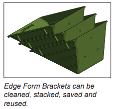 "EDGE FORM BRACKET 6"" x 7""  (25 Pieces)"