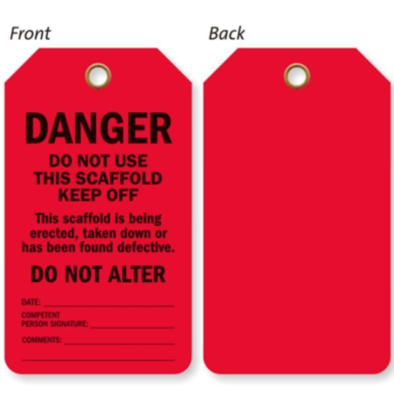 RED Safety Tag 100 Pieces
