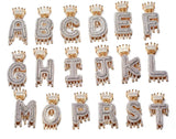 Crown Initials Bubble Letters Necklaces & Pendant