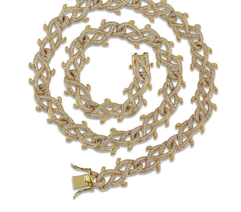18k Gold Cubic Zirconia Necklace