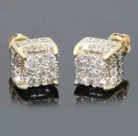 Diamond Square Cut Earrings
