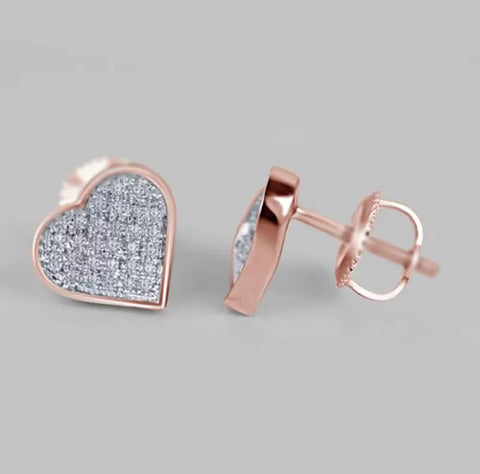 Rose Gold Diamond Heart Cut