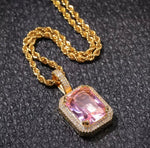 Iced Out Gem Stone Necklace