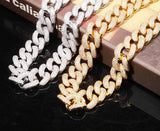 20mm Box Clasp Cuban Link Necklace