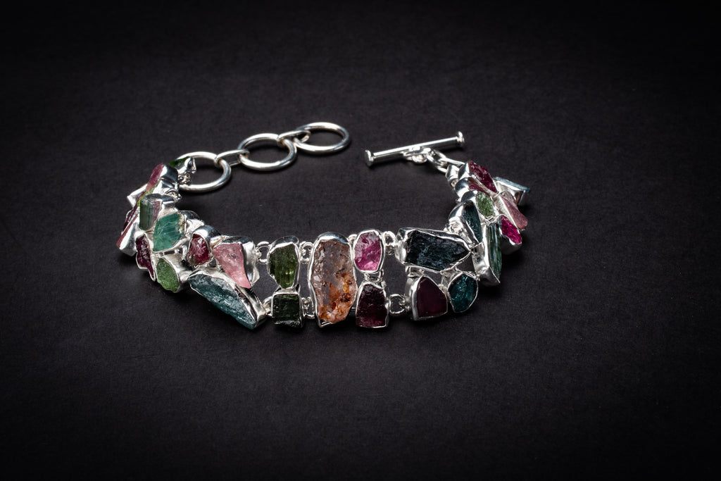 Rainbow Tourmaline bracelet - clarity, compassion and courage