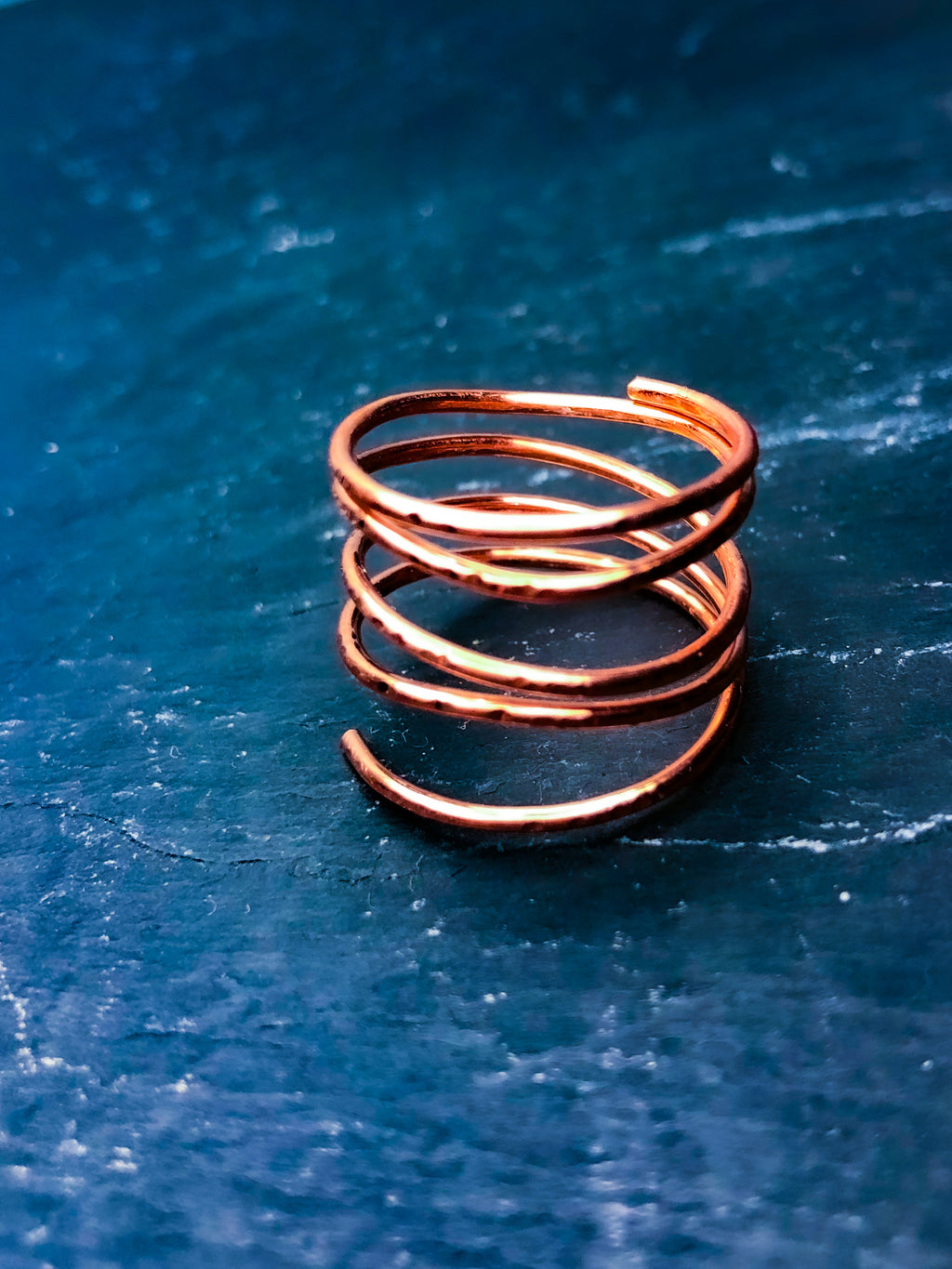 Atlantique Style; gifts for her; jewellery; jewelry; copper; handmade; ring; stacked ring