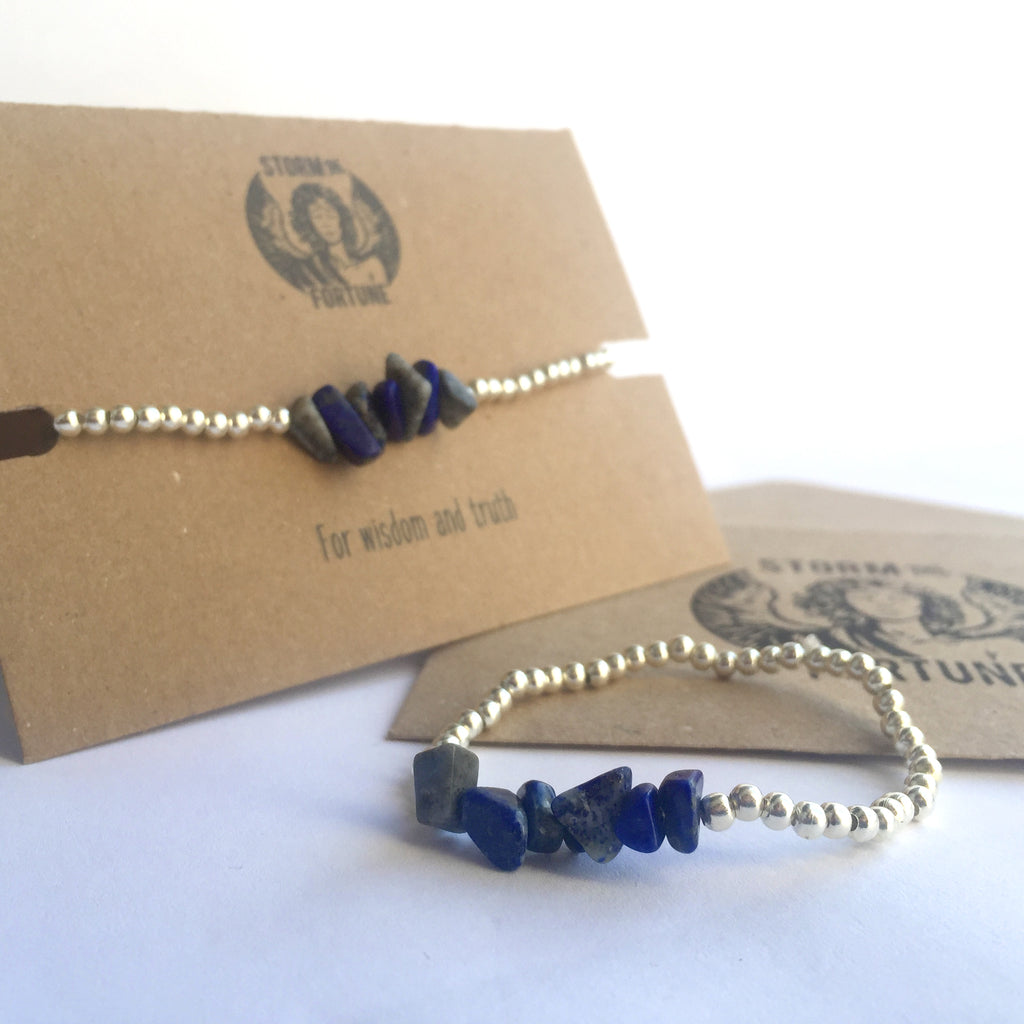 'Freyja' Lapis Lazuli Bracelet - For Wisdom And Truth
