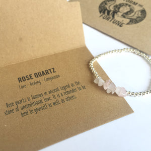 'Freyja' Rose Quartz Bracelet - You Are Loved