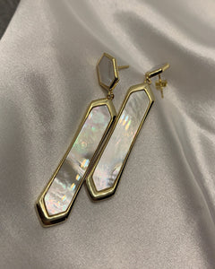Pearlescent Chandelier Earrings