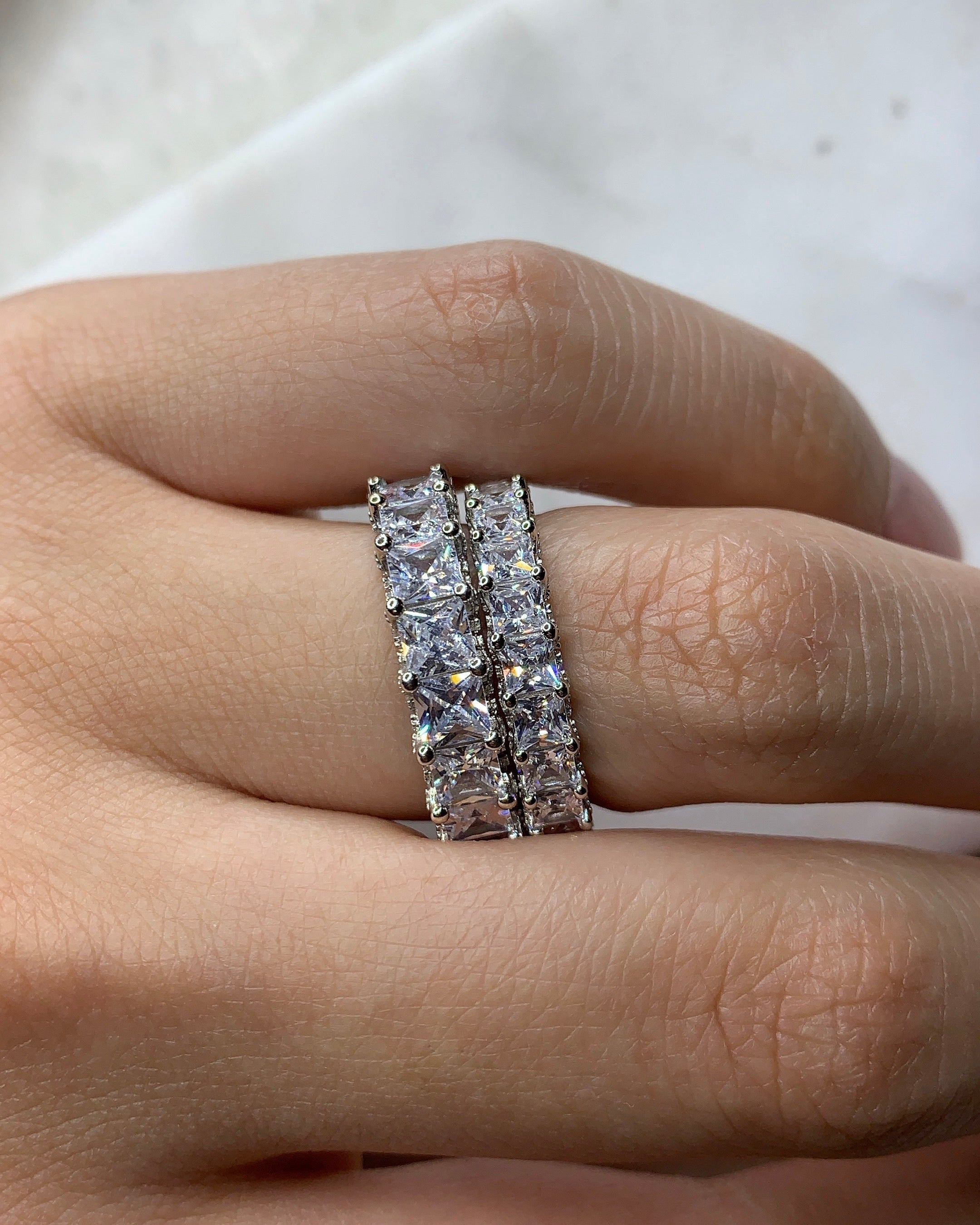 Eternity Ring | Square 4mm