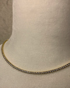 Tennis Necklace | Gold