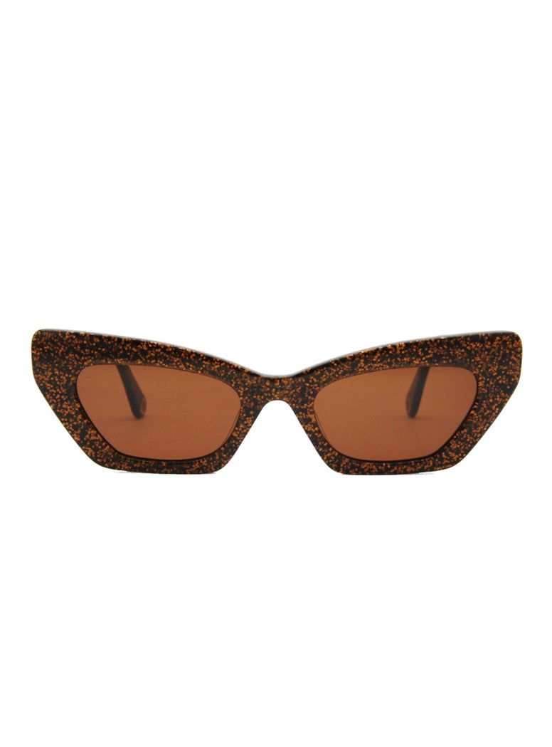 Lotte Sunglasses - Brown Glitter
