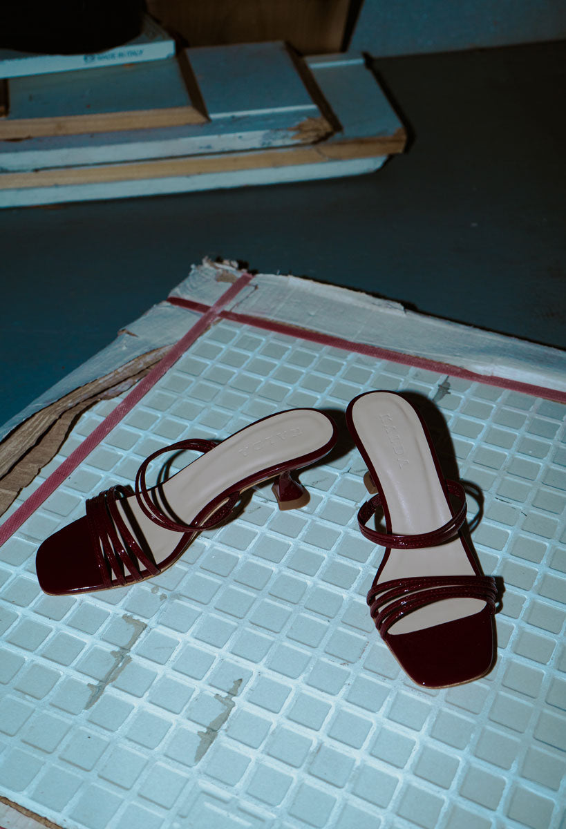 Simon Mini Sandals Burgundy