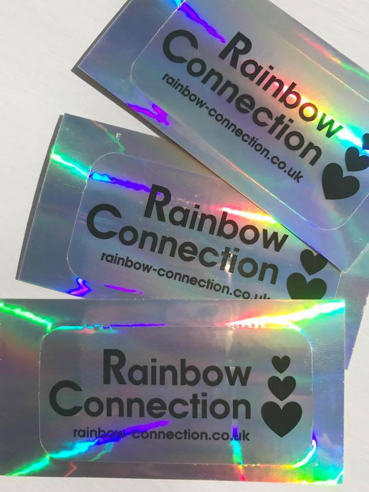 Rainbow Connection Holographic Stickers (set of 3)