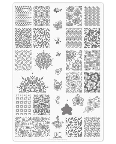 UberChic Nail Stamp Plates - Collection 20