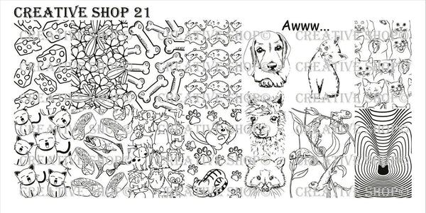 Creative Shop Stamping Plate 21